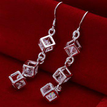 Pair of Checkered Earrings