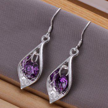 Fake Crytal Shell Drop Earrings