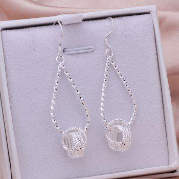 Pair of Teardrop Hanging Tennis Earrings