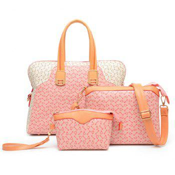 Fashion Color Block and Print Design Tote Bag For Women