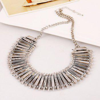 Sparkling Solid Color Pendant Embellished Necklace For Women - AS THE PICTURE