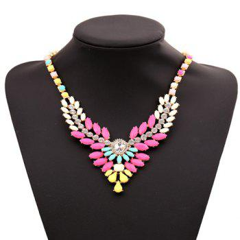 Sparkling Candy Color Special Shape Embellished Women's Necklace - COLOR ASSORTED