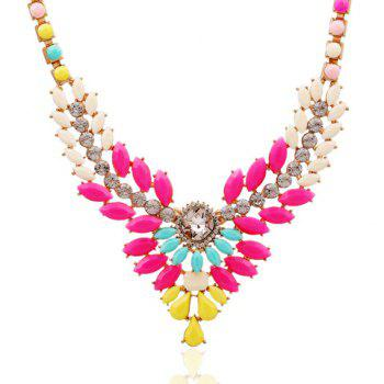 Sparkling Candy Color Special Shape Embellished Women's Necklace