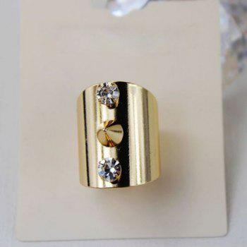 Punk Style Solid Color Rivet Embellished Women's Ring