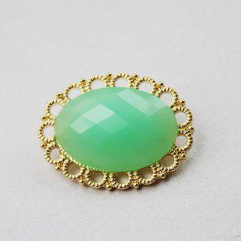 Sweet Candy Color Oval Shape Women's Brooch Pins - GREEN