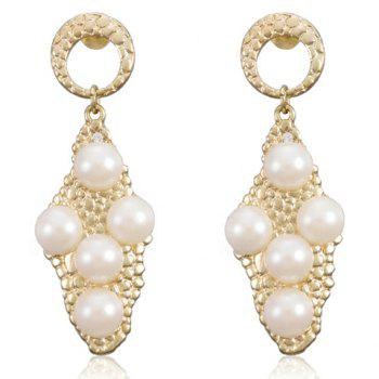 Pair of Gorgeous Faux Pearl Embellished Women's Earrings