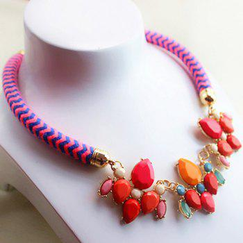Fresh Style Acrylic Embellished Waterdrop Shape Women's Necklace - AS THE PICTURE