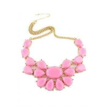 Candy Color Floral Pendant Necklace