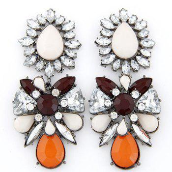 Pair of Chaste Faux Gem Embellished Special Shape Earrings For Women