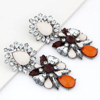 Pair of Chaste Faux Gem Embellished Special Shape Earrings For Women - AS THE PICTURE