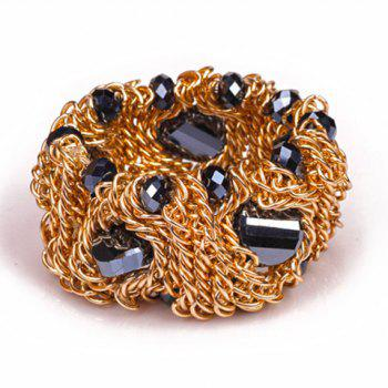 Laconic Solid Color Faux Gem Embellished Women's Bracelet
