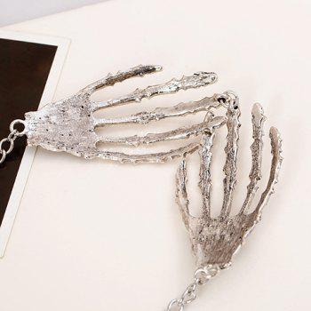 Skeleton Palm Design Necklace - AS THE PICTURE