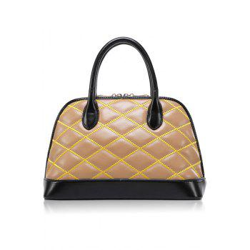 Trendy Color Block and Checked Design Women's Tote Bag - APRICOT APRICOT