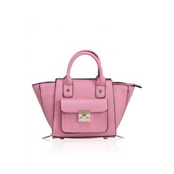 Stylish Rivets and Hasp Design Women's Tote Bag - PINK PINK
