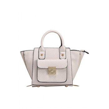 Stylish Rivets and Hasp Design Women's Tote Bag - WHITE WHITE