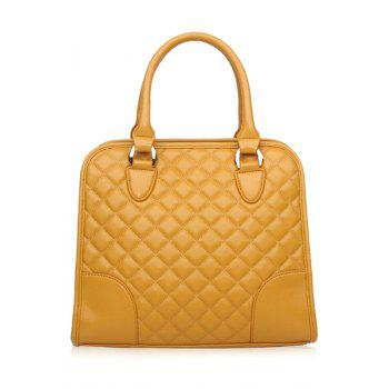 Elegant Splice and Checked Design Women's Tote Bag