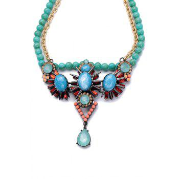 Beads Embellished Pendant Necklace - AS THE PICTURE