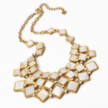 Gorgeous Solid Color Geometric Shape Pendant Women's Necklace - AS THE PICTURE