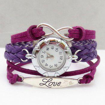 Multilayered Friendship Bracelet Watch