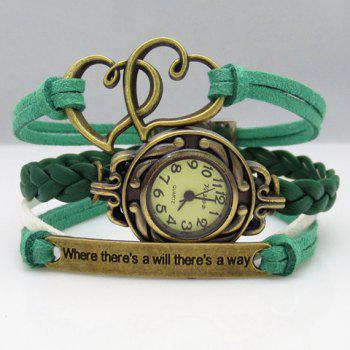 Woven Heart Friendship Bracelet Watch
