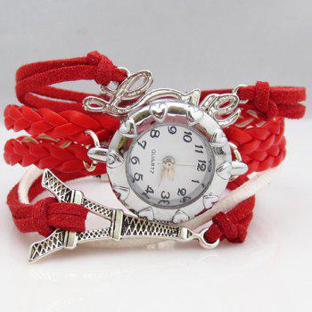 Eiffel Tower Love Multi-Layered Friendship Bracelet Watch