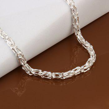 Stylish Men's Silver Plated Snake Chain Necklace