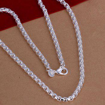 Men's Silver Plated Snake Chain Necklace