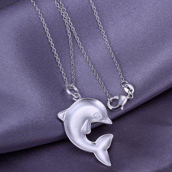 Stylish Dolphin Silver Plated Pendant -