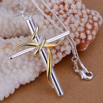 Fashionable Cross Silver Plated Pendant (without the chain) -  6.0*4.1CM
