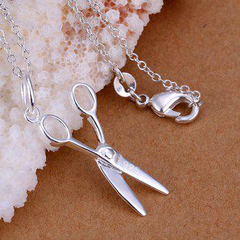 Stylish Scissor Silver Plated Pendant -