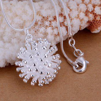Stylish Fireworks Silver Plated Pendant