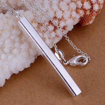 Stick Silver Plated Pendant (without the chain) -  4.9*0.4CM