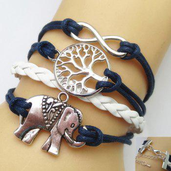 Tree of Life Infinity Elephant Multilayered Friendship Bracelet