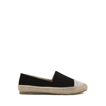 Simple Style Color Block and Weaving Design Women's Flat Shoes