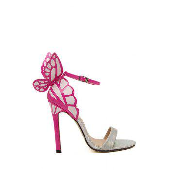 Elegant Color Block and Butterfly Design Women's Sandals