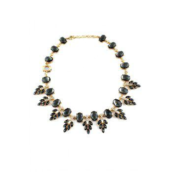 Faux Gemstone Special Shape Necklace