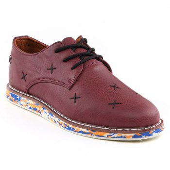 Fashion PU Leather and Stitching Design Casual Shoes For Men