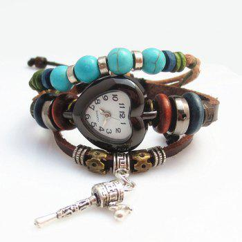 Trendy Special Shape Pendant Multi-Layered Women's Bracelet Watch