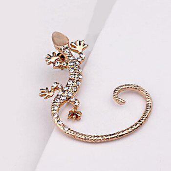 ONE PIECE Rhinestone Gecko Earring - GOLDEN