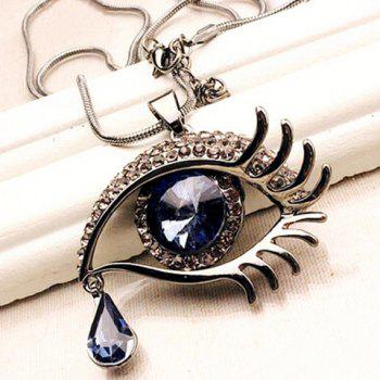 Shape strass Eye Fashion Chic femmes collier pendentif