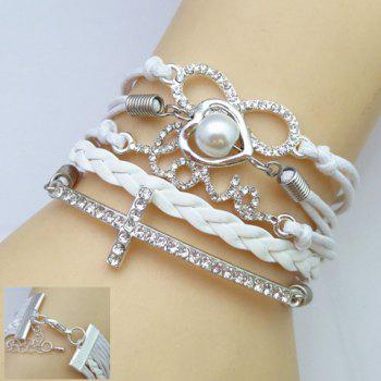 Rhinestone Multi-Layered Friendship Bracelet