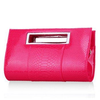 Gorgeous Patent Leather and Crocodile Print Design Clutch Bag For Women - ROSE MADDER ROSE MADDER