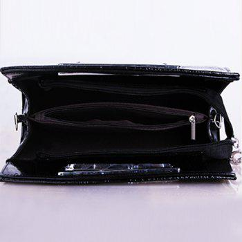 Gorgeous Patent Leather and Crocodile Print Design Clutch Bag For Women -  ROSE MADDER