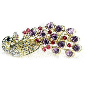 Exquisite and Attractive Rhinestone Embellished Peacock Shape Hairpin -