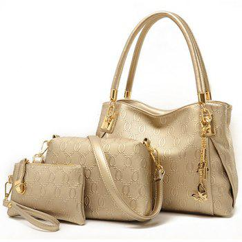Gorgeous Metallic and Embossing Design Shoulder Bag For Women