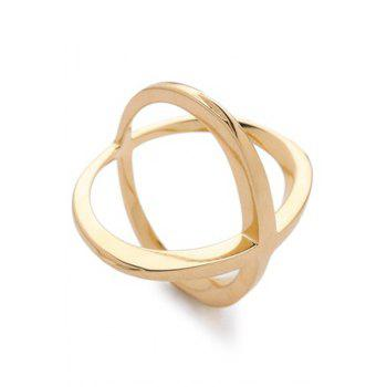 Gold Plated Cross Ring - GOLDEN ONE-SIZE