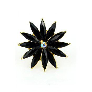 Faux Gem Decorated Flower Ring