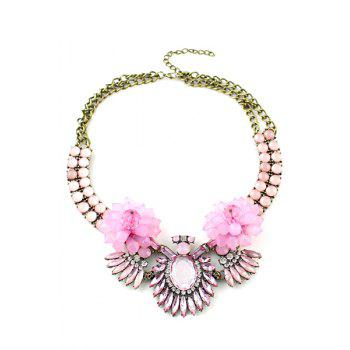 Faux Gemstone Embellished Pendant Necklace