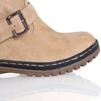 Vintage Suede and Buckle Design Snow Boots For Women - 37 37