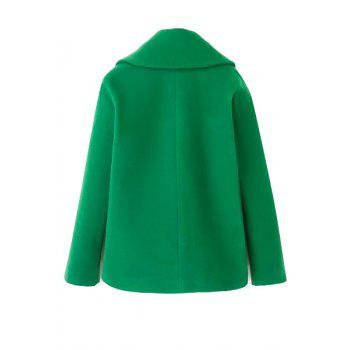 Simple Style Lapel Collar Long Sleeve Solid Color Worsted Women's Coat - L L
